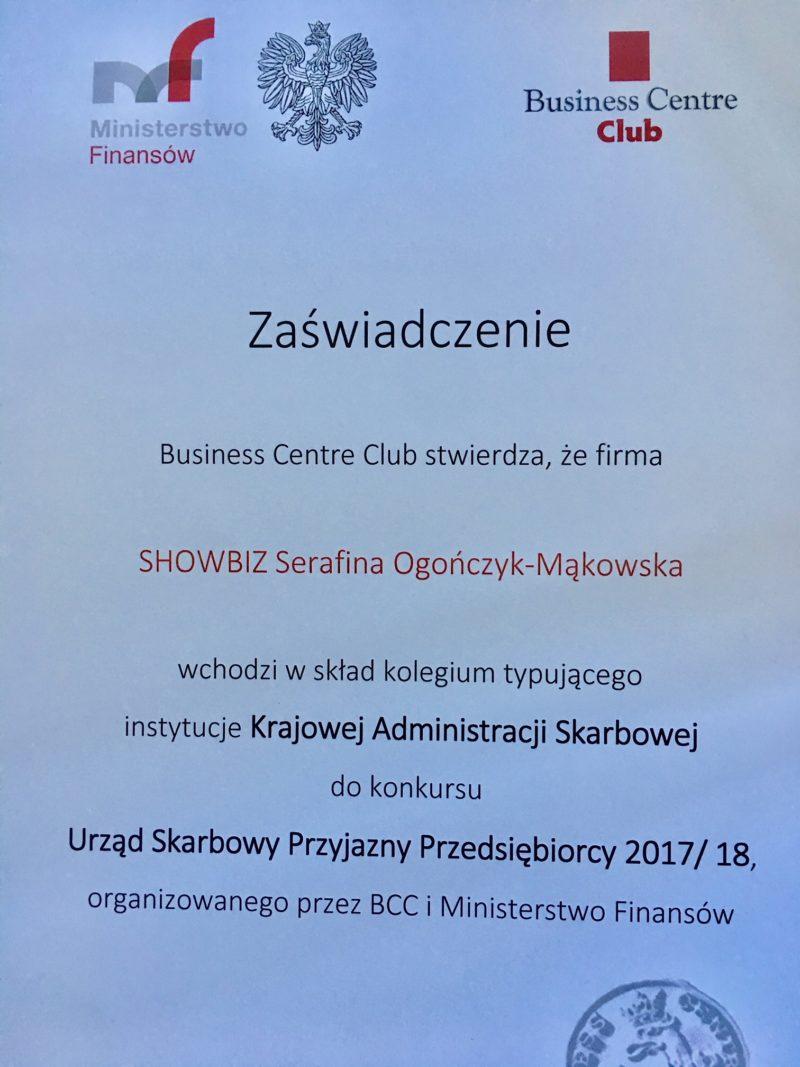 Serafina OM w składzie kolegium typującego instytucje Krajowej Administracji Skarbowej